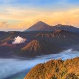 Bromo Mountain in Tengger Semeru National Park. At sunrise, East Java, Indonesia Stock Images