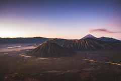 Bromo mountain twilight Stock Photos