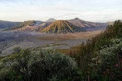 The Bromo mountain stock image
