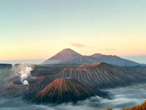 Bromo nationalpark, Probolinggo, East Java, Indonesien Arkivfoton