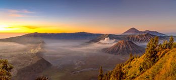 Bromo panorama Royalty Free Stock Image