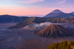 Bromo pendant le matin Images stock
