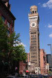 Bromo Seltzer Tower in Baltimore Maryland. A nice portrait view of Baltimore`s famous Bromo Seltzer Tower isolated against a clear sky. The tower, once a company stock photography