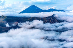 Bromo and semeru mount Royalty Free Stock Image