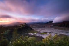 Bromo soluppgång från serunipunkt Fotografering för Bildbyråer
