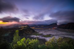 Bromo sunrise from seruni point royalty free stock image