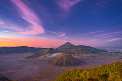 Bromo before sunrise. Travel Indonesia Royalty Free Stock Photography