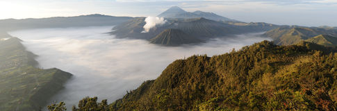Bromo-Tengger-Semeru national park on the island of Java Stock Photos
