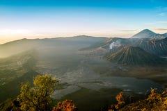 Bromo-Tengger-Semeru nationalpark, Indonesien Arkivbilder