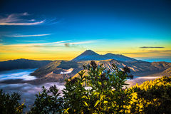 Bromo View Sunrise royalty free stock photography