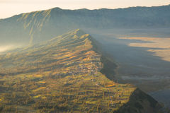 Bromo village in the morning Stock Images