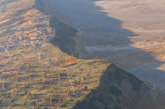 Bromo village. From panajakan I view point in the morning Royalty Free Stock Photo