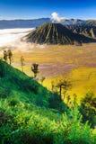 Bromo vocalno på soluppgång, East Java, Indonesien Royaltyfri Fotografi