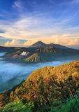 Bromo volcano at sunrise, East Java, Indonesia Stock Photos