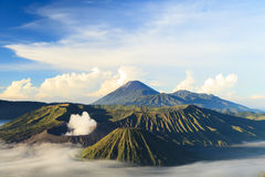 Bromo Vocano Mountain in Tengger Semeru National Park Stock Images
