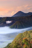 Bromo Vocano Mountain in Tengger Semeru National Park Royalty Free Stock Image