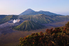 Bromo volcano. At sunrise Java Indonesia stock image