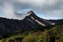 Bromo volcano mist Stock Images