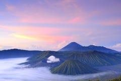 Bromo Volcano Mountain i Indonesien Fotografering för Bildbyråer