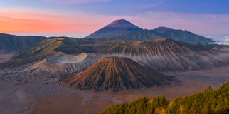 Bromo volcano mountain landscape in the morning Stock Images