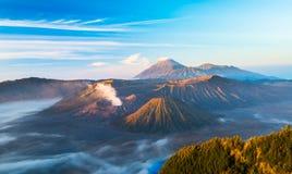 Bromo volcano while sunrise at Bromo Tengger Semeru National Par. Mount Bromo while sunrise at Bromo Tengger Semeru National Park Stock Photography
