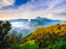 Bromo volcano at sunrise, East Java, Indonesia Stock Photography