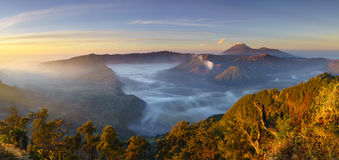 Bromo volcano at sunrise, East Java, Indonesia Stock Image