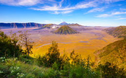 Bromo volcano at sunrise, East Java, Indonesia Stock Images