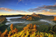 Bromo volcano at sunrise, East Java, Indonesia Stock Photo