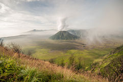 Bromo volcano at sunrise Royalty Free Stock Images