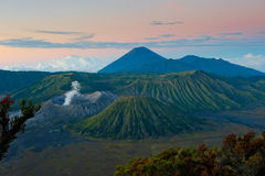 Bromo volcano at sunrise, Java, Indonesia Stock Photo