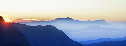 Bromo Volcano sunrise Stock Photography