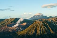 Bromo volcanoe. A breathtaking veiw on Bromo volcano at sunrise Stock Photos