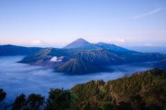 Bromo volvano i Indonesien royaltyfria bilder