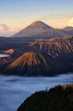 Bromo-volvano in Indonesien Stockfotografie