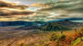 Bromo vulkan färgen Royaltyfri Fotografi
