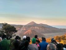 Bromo vulkan från Pananjakan royaltyfri fotografi