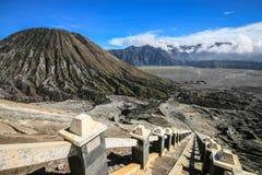 Bromo vulkan i East Java Arkivbild