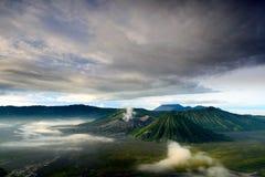 Bromo vulkan i Indonesien Fotografering för Bildbyråer