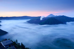 Bromo vulkan i Indonesien Arkivfoto