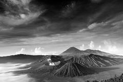 Bromo vulkan i Indonesien Arkivbild