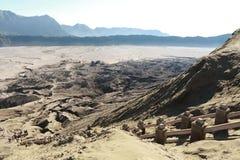 Bromo vulkansikt uppifrån, East Java, Indonesien Arkivbilder
