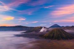 Bromo wulkan podczas wschodu słońca Fotografia Stock