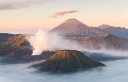 Bromo wulkan, Tengger Semeru park narodowy, Wschodni Jawa, Indonezja Zdjęcia Stock
