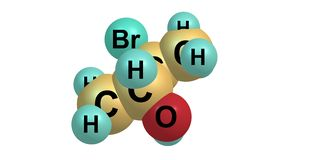 Bromobutanol molecular structure  on white Royalty Free Stock Photo