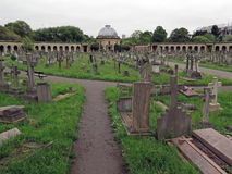 Brompton Cemetery London. Opened in 1840, Brompton Cemetery is considered one of the finest Victorian cemeteries in Britain. It is located in the district of Royalty Free Stock Photography