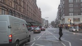 Brompton-Straßen-London-Winter stock video