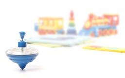 Bromtol en veel speelgoed Stock Foto's