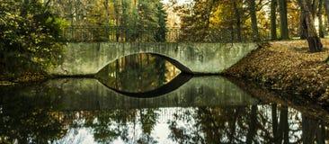 Bron över floden parkerar Fotografering för Bildbyråer