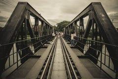 Bron av floden Kwai, Kanchanaburi, Thailand arkivbilder